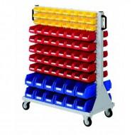 Racks mobiles avec panneaux équipés de bacs