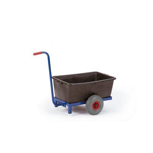 Chariot avec bac 2 roues de kappes france chariot col de for Chariot de jardin 2 roues