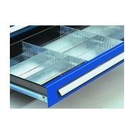 Compartimentages de tiroirs pour Armoires charge lourde avec paroi de séparation