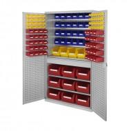 Armoires grande capacité avec tiroirs au milieu équipées de bacs à bec