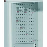 Parois latérales perforées pour armoires verticales à panneaux