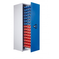 Armoire à 1 compartiment verticale extractible H2000xL590xP600mm équipée de 60 bacs