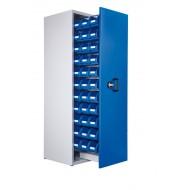 Armoire à 1 compartiment verticale extractible H2000xL590xP600mm équipée de 33 bacs