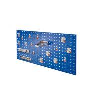 Composition N°6 de panneau perfore avec assortiment 18 pièces - bleu gentiane