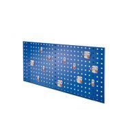 Composition de panneau perfore avec assortiment 12 pièces Abax - bleu gentiane
