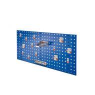 Composition de panneau perfore avec assortiment 15 pièces Abax - bleu gentiane
