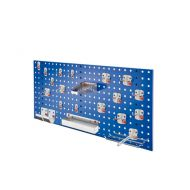 Composition de panneau perfore avec assortiment 21 pièces Abax - bleu gentiane