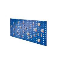 Composition de panneau perfore avec assortiment 25 pièces Abax - bleu gentiane